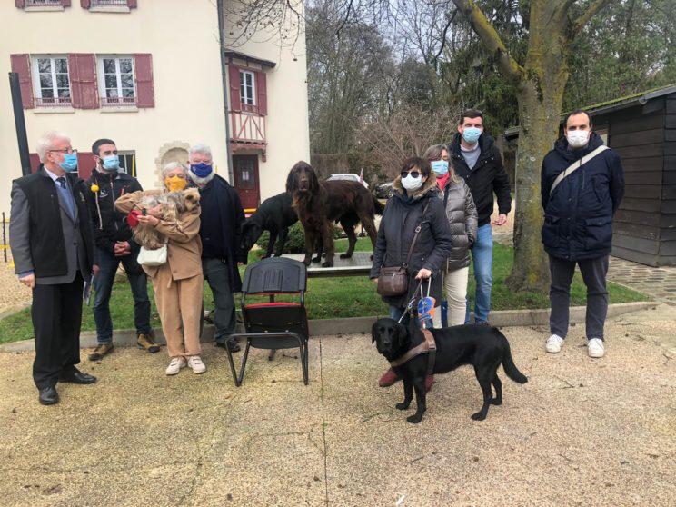 Visite et Remise de don à l'école chiens guides de Paris